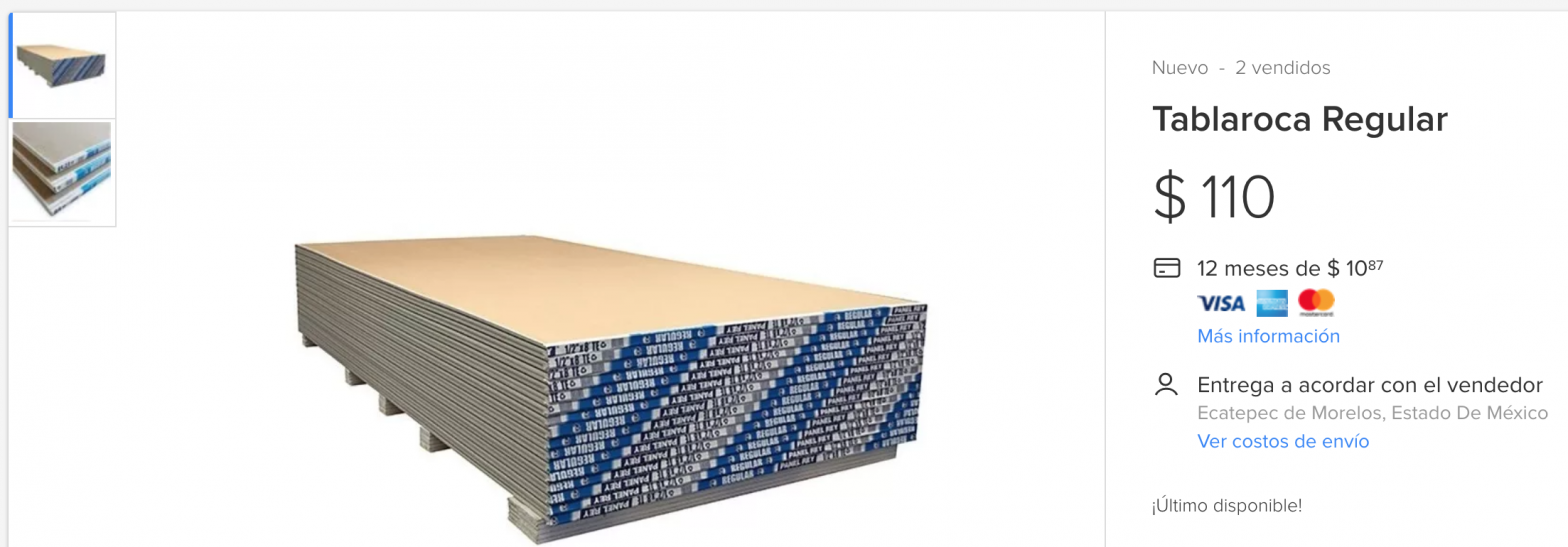 drywall draibol tablaroca paneles yeso planchas